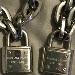 Michael Kors matching padlock bracelet/necklace